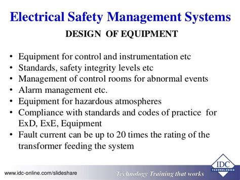 design criteria and safety high voltage electrical compliance and safety operating