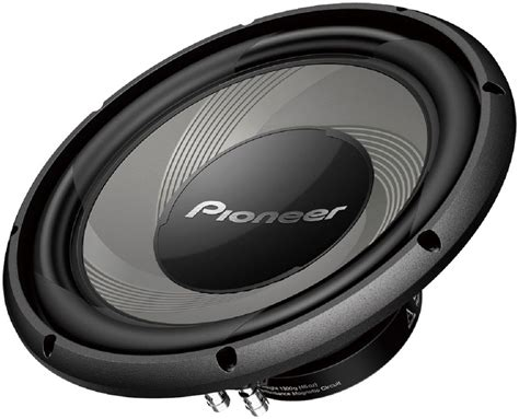 pioneer  single voice coil  ohm subwoofer black ts