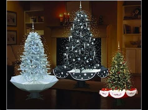 led lights musical snowing christmas tree with umbrella