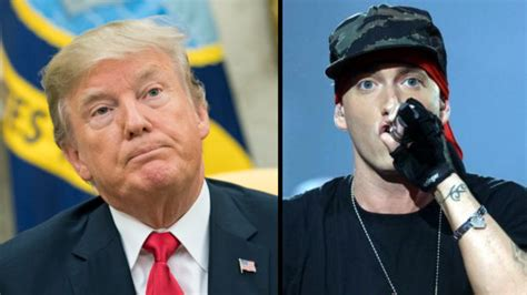 eminem unleashes on donald trump in new song quot no favors donald trump once backed eminem for president ladbible
