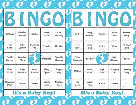 free printable baby shower bingo template 60 baby shower bingo cards printable by