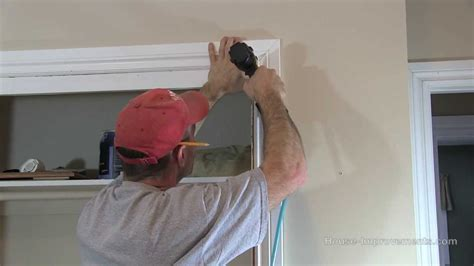 Installing Door Casing by How To Install Window Door Trim Casing