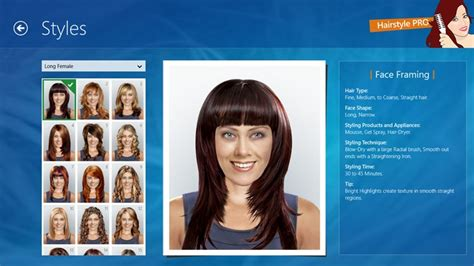 long hairstyles app hairstyle pro app for windows in the windows store