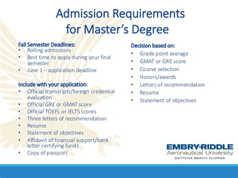 Arkansas Mba Requirements by Webinar Ms And Mba Programs From Embry Riddle