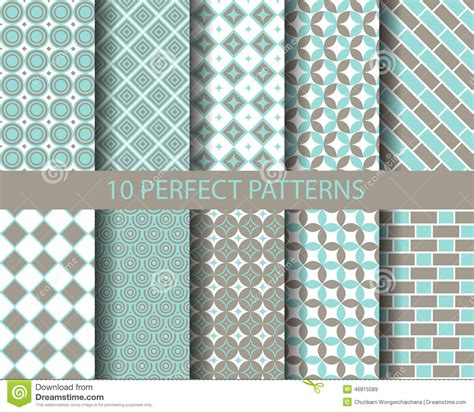 blue geometric pattern 10 cute blue geometric patterns stock vector image 46815589