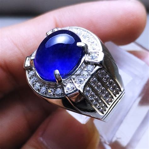 Cincin Blue cincin permata blue sapphire elegance banget