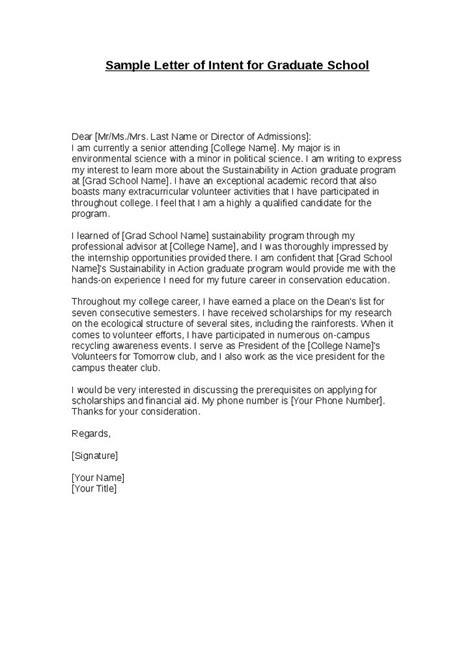cover letter contohnya best 25 letter of intent ideas on graduate school personal statement grad school