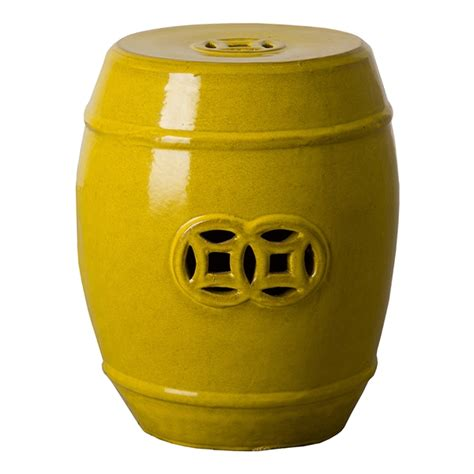 Mustard Colored Stool by Mustard Yellow Fortune Garden Stool Seven Colonial