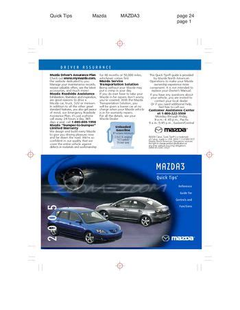 download car manuals pdf free 2005 mazda mazda3 transmission control download 2005 mazda 3 quick tips pdf manual 12 pages