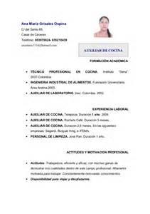 Curriculum Vitae Chef curriculum ana m 170 cocina