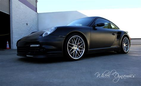 Porsche 997 Forum by Porsche 997 Turbo Matte Black New Shoes R 66 19