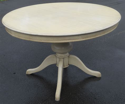 Round Pedestal Painted Dining Table