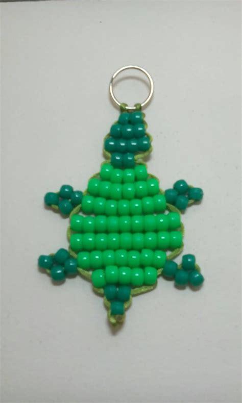 pony bead keychain patterns turtle bead pet keychain