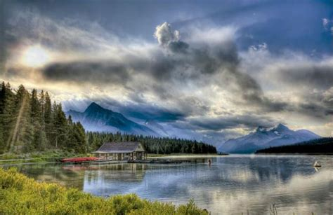 boat house canada maligne lake boathouse canada jigsaw puzzle puzzlewarehouse com
