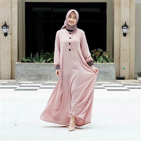 Gamis Lebaran 20 model gamis lebaran 2019 simple modis hijabtuts