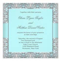 silver wedding invitation templates teal blue silver wedding 5 25x5 25 square paper invitation