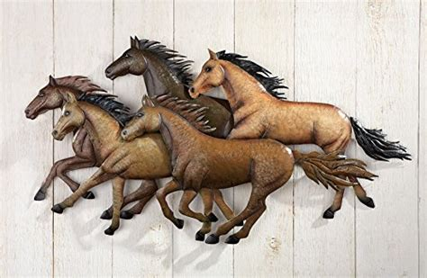 rustic southwestern running horses wall art buy