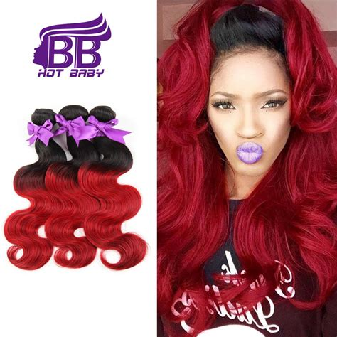 ombre weave hair st 7a grade burgundy brazilian virgin hair weave brazilian