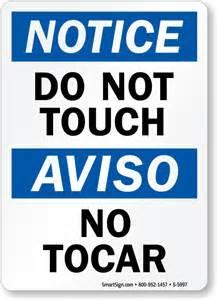 do not touch no tocar osha sign free shipping sku s