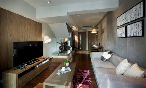 Service Appartment Hong Kong by Tiny Apartment In Black And White Charms With Space Saving