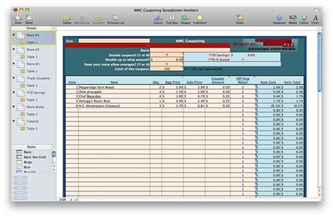 Coupon Tracker Spreadsheet by Coupon Spreadsheet Coupon Coupon