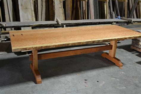 live edge cherry dining table made live edge dining table bookmatched curly