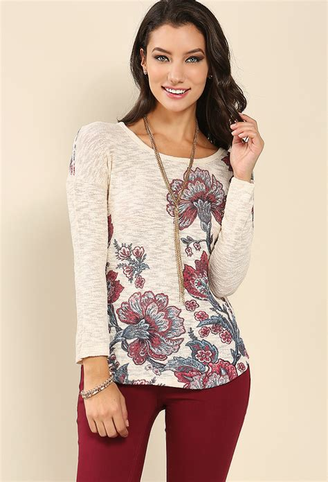 Floral Sleeves Best Seller 1 floral print sleeve top shop tops at papaya clothing