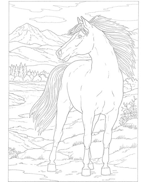 childhood education free printable horses coloring pages