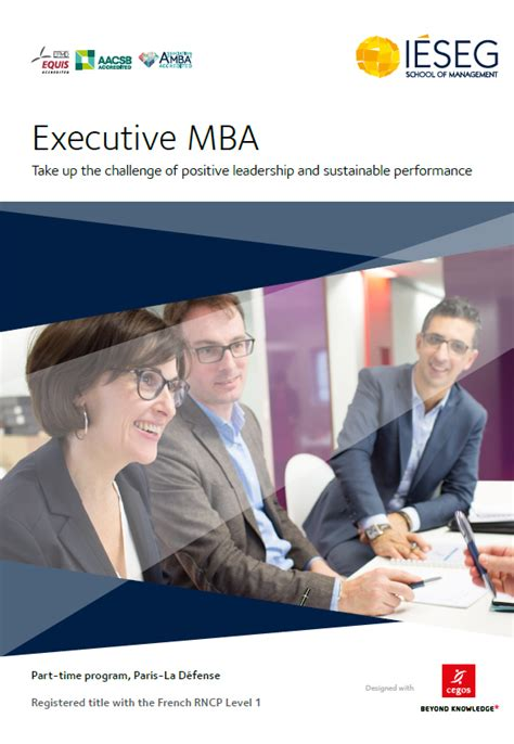 Working Executive Mba by Our Brochures I 201 Seg