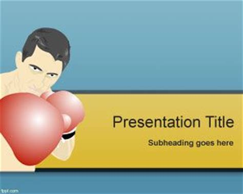 Free Boxing Powerpoint Template Boxing Templates Free