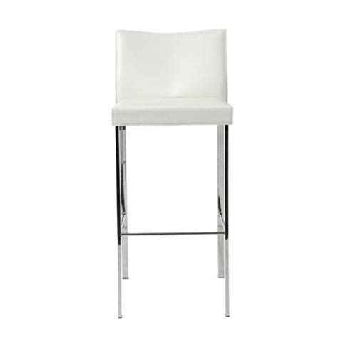 How To Clean Chrome Bar Stools by White Leather Counter Stool Bellacor
