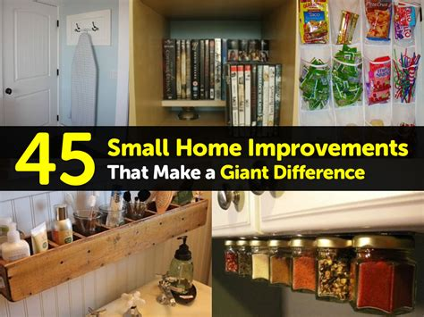 45 small home improvements that make a difference