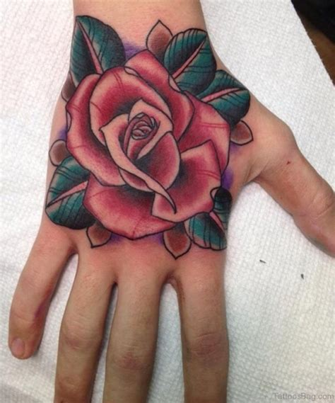 rose tattoos on the hand 50 flower tattoos on