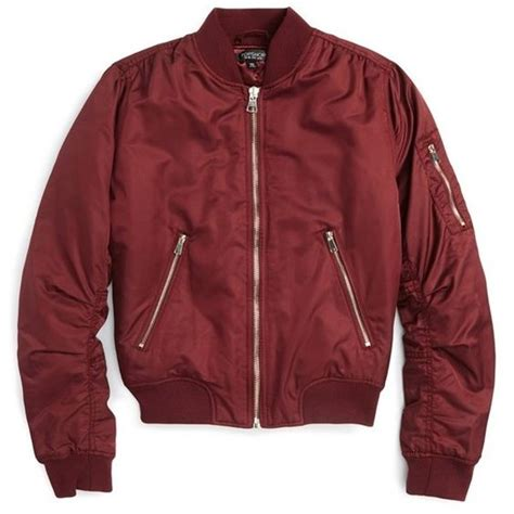 Apparel Lab Bomber Jacket Maroon 2 s topshop ma1 bomber jacket 130 cad liked on polyvore featuring outerwear jackets tops