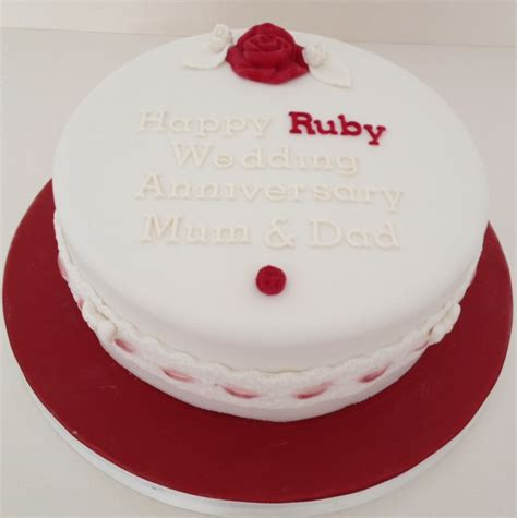 Ruby Wedding Cakes by Roses Lace Ruby Wedding Cake