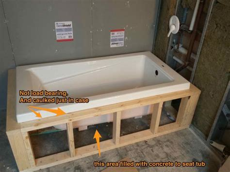 how to make a tile bathtub drop in tub tiling lip on frame or on tile