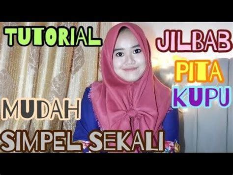 tutorial jilbab pita tutorial jilbab segi empat pita kupu kupu tutupi dada