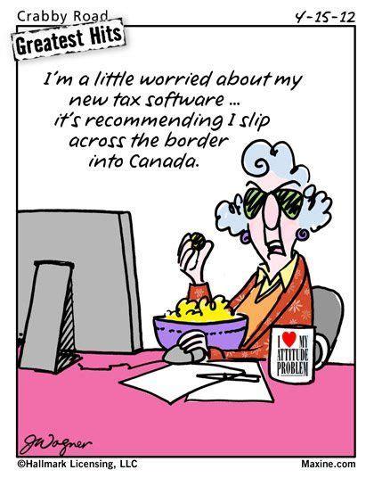pinterest tax returns taxes funny ecard tax day ecard funny tax season cartoons maxine on tax season filing
