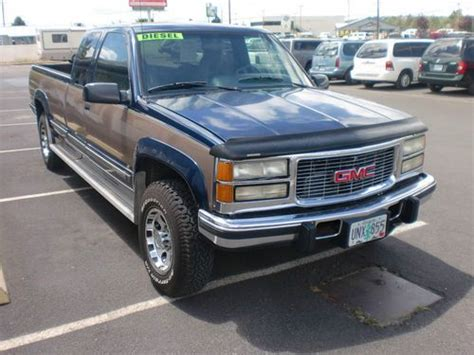 find used 1995 gmc 2500 diesel 4x4 ext cab 117k