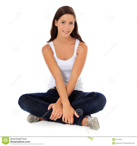 sitting on the floor stock image image of