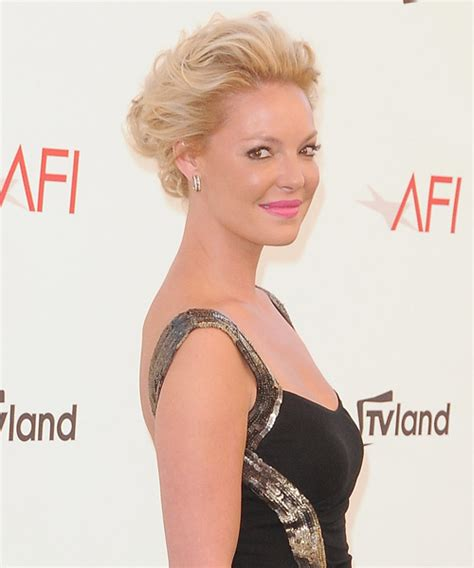 Hairstyles For Medium Hair With Gel by Katherine Heigl Curly Formal Updo Hairstyle Medium
