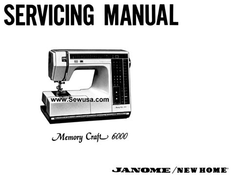 New Home Memory Craft 6000 Service Manual Amp Parts List