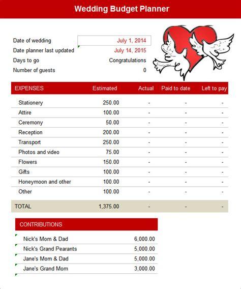 budget planner worksheet free excel intelligent free