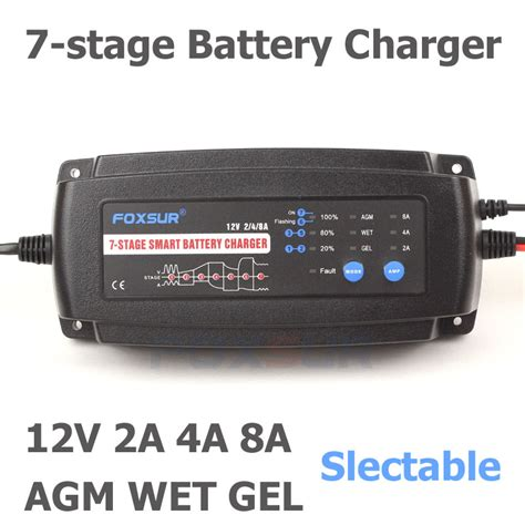 Souer 12v 10 A Automatic Car Battery Charger Ma 1210a foxsur 12v 2a 4a 8a automatic smart battery charger 7