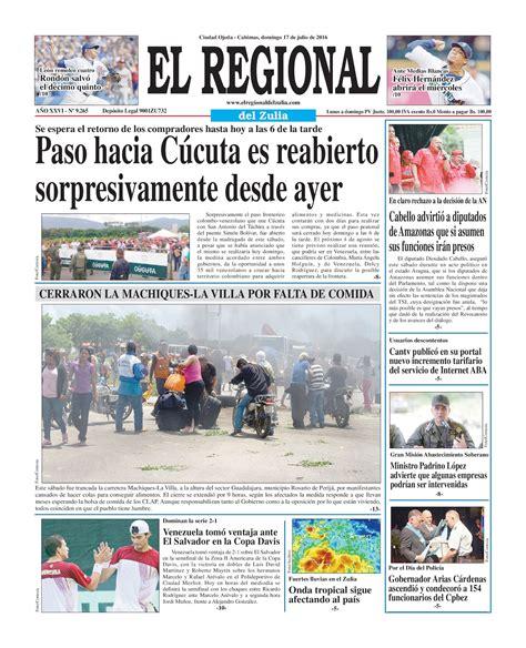 regional del zulia 2016 calam 233 o el regional del zulia 17 07 2016