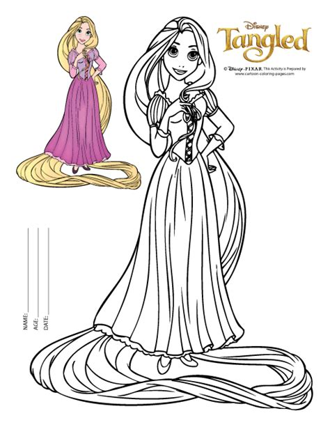 92 Printable Disney Coloring Pages Tangled Baby Rapunzel Coloring Pages