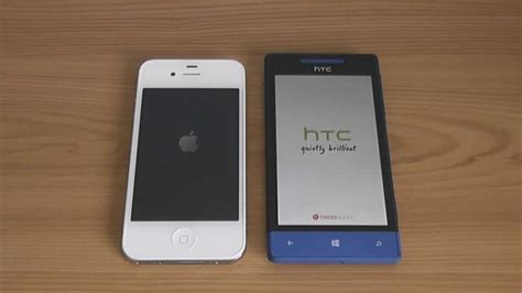 HTC 8S vs iPhone 4S (Speed and Speaker Test)   YouTube