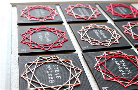 String Cards - diy geometric string cards