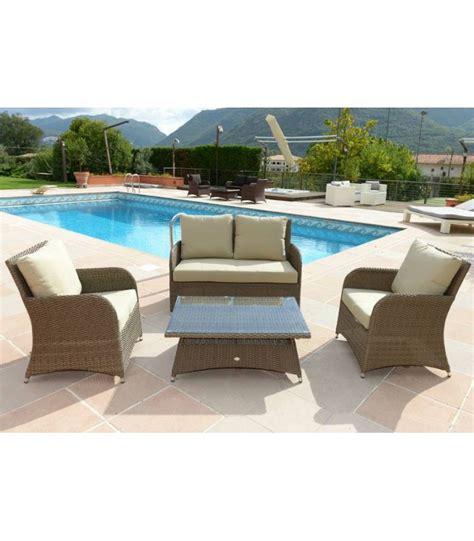 divanetto da esterno divanetto da giardino con tavolino e poltrone madeira grey