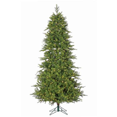 9 foot christmas tree with power pole sterling 7 5 ft pre lit shasta pine tree with power pole 6359 75c the home depot